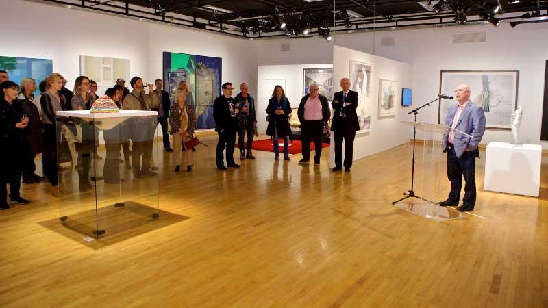 intervento culturale ad una mostra